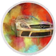 Merc Hot Rod Round Beach Towel