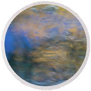 Merced River Reflections 18 Round Beach Towel