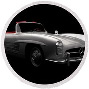 Mercedes 300 Sl Roadster Round Beach Towel