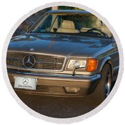 Mercedes 560sec W126 Round Beach Towel
