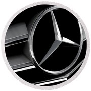 Mercedes Badge Round Beach Towel