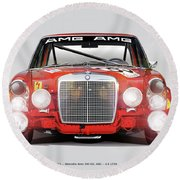 Mercedes-benz 300sel 6.3 Amg Round Beach Towel