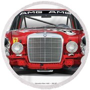 Mercedes-benz 300sel 6.3 On White Round Beach Towel