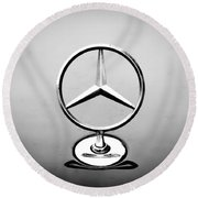 Mercedes Benz Logo Round Beach Towel