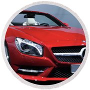 Mercedes Benz Sl Round Beach Towel