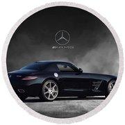 Mercedes Benz Sls Amg Round Beach Towel