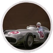 Mercedes-benz W196 Number 10 Round Beach Towel by Wally Hampton