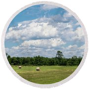 Mercer County Landscape Round Beach Towel
