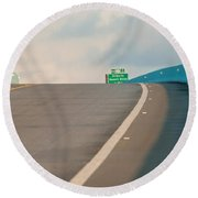 Merge To The Clouds Round Beach Towel