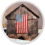 Merica Round Beach Towel