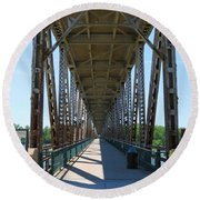 Meridian Bridge Round Beach Towel
