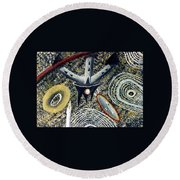 Merkavah Castle Round Beach Towel