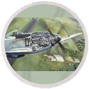 Merlin Magic Over Scone Round Beach Towel
