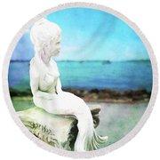 Mermaid Lisa Round Beach Towel