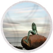 Round Beach Towel featuring the photograph Mermaid Of The North East by Grant Glendinning