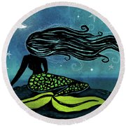 Mermaid Song Round Beach Towel
