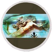 Mermaids Journey Round Beach Towel