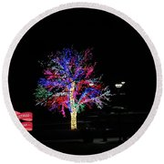 Merry Christmas Friends Round Beach Towel