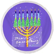 Merry Everything Round Beach Towel