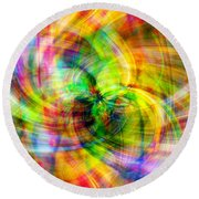 Round Beach Towel featuring the photograph Merry Go Round by Cathy Donohoue