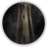 Mersey Bluff Lighthouse In Devonport. Fine Art Round Beach Towel