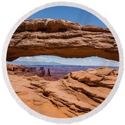 Mesa Arch Canyonlands Round Beach Towel by Brenda Jacobs