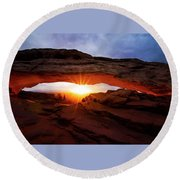Mesa Arch Sunrise Round Beach Towel