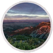 Round Beach Towel featuring the photograph Mesa Verde Soft Light by Margaret Pitcher