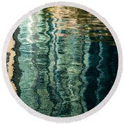 Mesmerizing Abstract Reflections Two Round Beach Towel