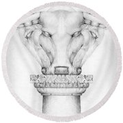 Mesopotamian Capital Round Beach Towel