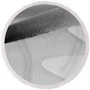 Round Beach Towel featuring the photograph Mesquite Dunes Patterns by Sandra Bronstein