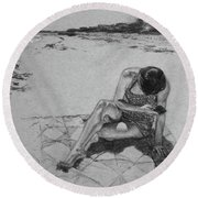 Messages Round Beach Towel