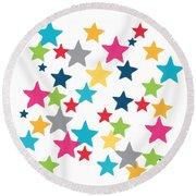 Messy Stars- Shirt Round Beach Towel