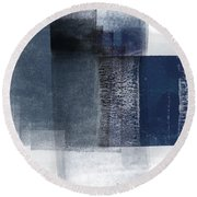Mestro 2- Abstract Art By Linda Woods Round Beach Towel