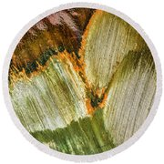 Metal Abstract  Round Beach Towel