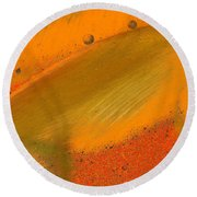 Metal Abstract Four Round Beach Towel