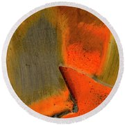 Metal Abstract Three Round Beach Towel