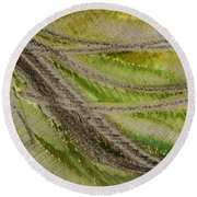 Metal Abstract Two Round Beach Towel