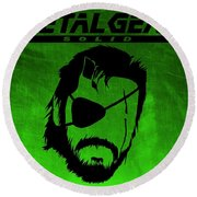 Metal Gear Solid Round Beach Towel by Kyle West