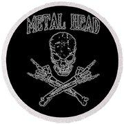 Metal Head Round Beach Towel