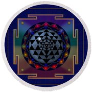 Metal Mandala Round Beach Towel