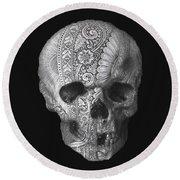 Metal Skull Round Beach Towel