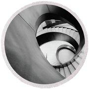 Metal Spiral Staircase London Round Beach Towel