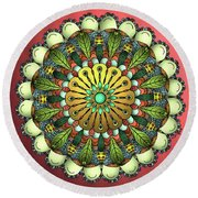 Metallic Mandala Round Beach Towel