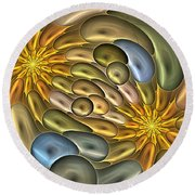 Metallic Mitosis Round Beach Towel