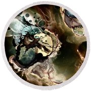 Metallic Nebula Round Beach Towel