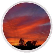 Metallic Sunrise Round Beach Towel