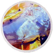 Round Beach Towel featuring the painting Metamorphosis by Dominic Piperata
