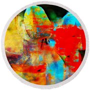 Metamorphosis  Round Beach Towel by Leanne Seymour