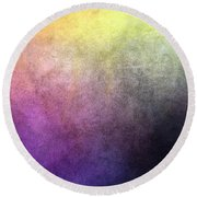 Metaphysics Ll Round Beach Towel by Carrie Maurer